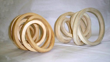 """Natural poplar wood Each 14""""W x 12""""H x 12""""D Commission for five multiples, Art Museum Council Los Angeles County Museum of Art, CA"""