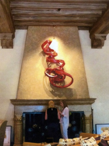 Big Red Fortune installed at The Fairmont, Sonoma